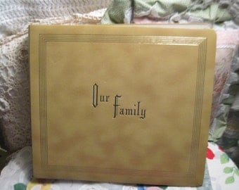 Scrap booking, Old Photos,Vintage Photos, Family, Photo Album, Our Family Photo Album 1960s Crown Albums  :) Not Included in Coupon Sale