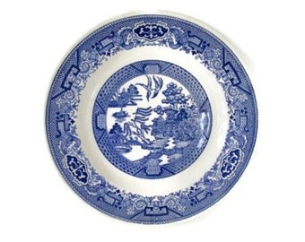Blue Willow China Plate Vintage Dinnerware Royal China
