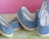 Blue Denim Ballet Flats in a choice of 4 Colors