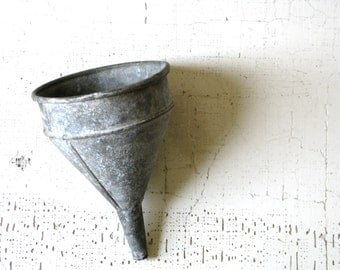 metal funnel -- urban farmhouse -- industrial decor -- shabby cottage style
