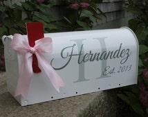 DECALS - Wedding Mailbox Decals - 2 Sets