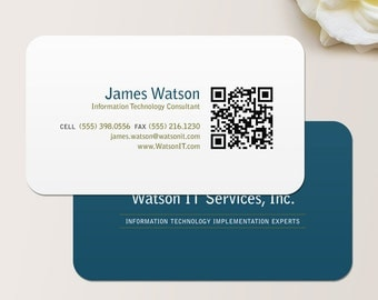 QR Code Consultant Business Card / Calling Card / Mommy Card / Contact Card - Calling Cards, Business Cards, Modern Business Cards