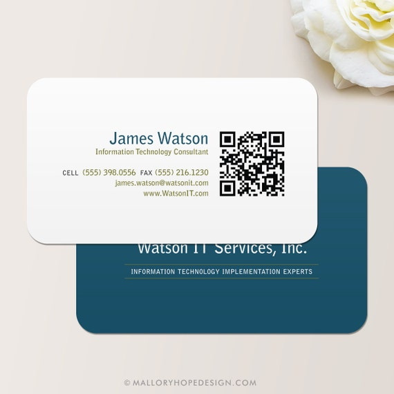 qrcode business card
