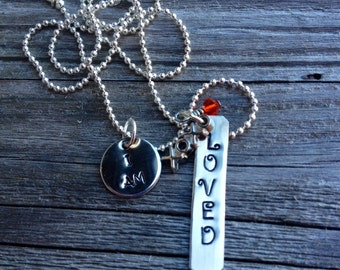 Hand Stamped Personalized I Am...Necklace