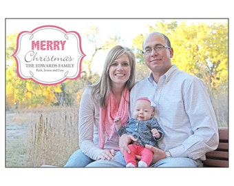 Family Coral Christmas Card