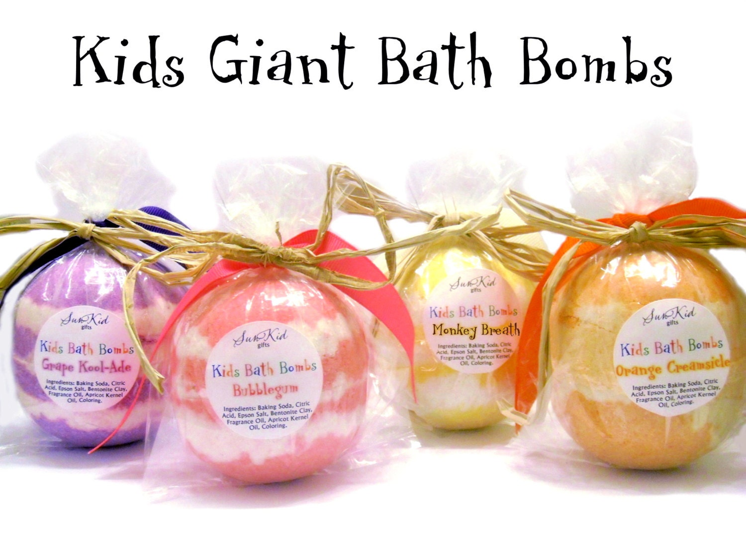 Kids Giant Bath Bombs Bath Fizzies Party Favors By