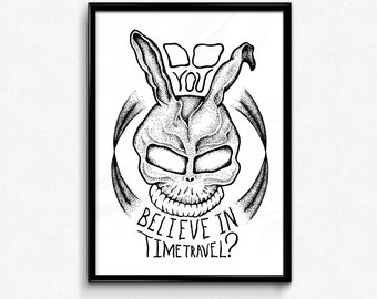 Original Hand Drawn Donnie Darko - Frank The Bunny Art Print