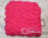 Hot Pink Mohair Shell Newborn Baby Layering Blanket Wrap - Basket Filler  - Photo Prop - Newborn Prop - Photography Prop