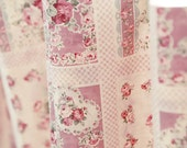 Rose Patches Cotton Fabric - Pink - By the Yard 61810