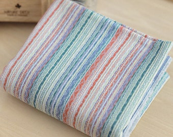 Yarn Dyed Multicolor Stripe Cotton Fabric - By the Yard 48615