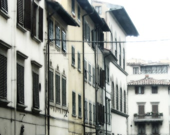 Siesta Shutters - Florence, Tuscany, Italy - Urban Street Travel Photography Print 5x7