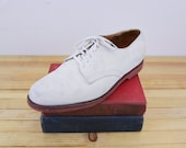Princeton Suede - Vintage Cole Haan - Suede Bucks - With Red Vibram Rubber Sole Mens size 11D