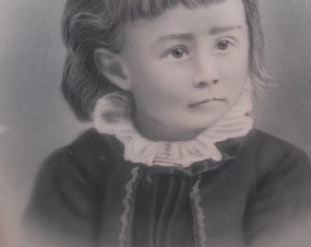 Beautiful Large 16 x 20 inch vintage childs portrait , ready for framing a stunning addition to any collection