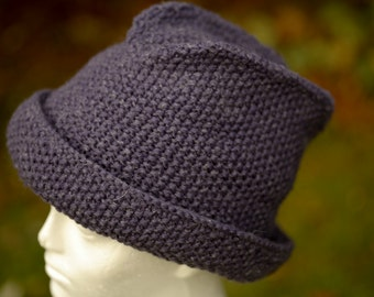 """Woollen knitted purple """"Trilby'"""