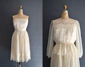 SALE 70s lace dress / 1970s wedding dress