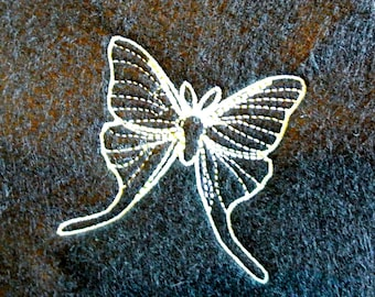 Moth Embroidery Design for 4x4 Machine Embroidery Hoops
