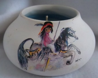 DeGrazia Signed Candle Holder