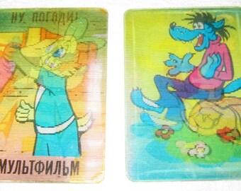 Set of 10 NU POGODI Cartoon USSR Soviet Stereo 3DPocket Calendars Russian
