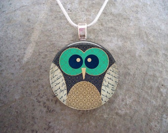 Owl Jewlery Necklace - Glass Pendant Jewelry - Owl 5