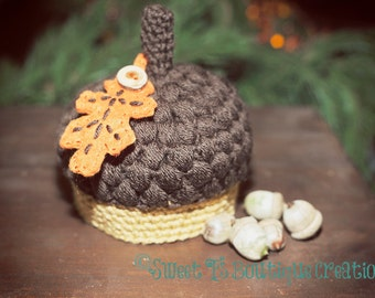Free Crochet Baby Acorn Hat Pattern : Sweet Ts Boutique by SweetTsBoutique on Etsy