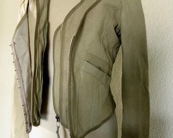 Leather Jacket/ Washed Leather JK  Modern Biker / Motor Biker Jacket