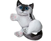 cat painted art doll