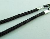 Simple Black Cord Eyeglasses Chain for men or women - glasses cord - reading glasses lanyard - eyeglasses leash - parachute cord