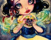 Snow White, Natasha Wescoat's Grimms Tale Fantasy LIMITED Edition Painted Canvas