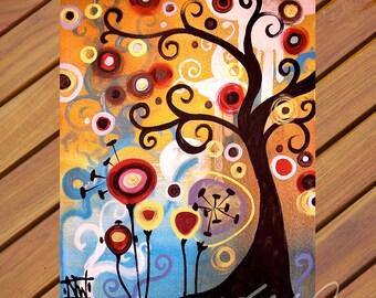 June Tree, Pop Art TREE   Fine Art Print by Natasha Wescoat 8x10 12x16 13x19 16x20