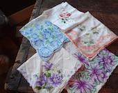 Vintage Handkerchiefs, LOT of 5