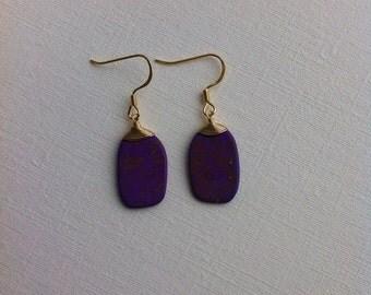 Speckled Indigo Earrings