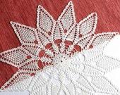 SALE 25% OFF: Large white crochet doily Crochet doilies lace Linen lace doily Home decoration