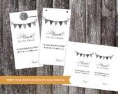 Do Not Disturb Hotel Wedding Door Hanger.  Instant download!