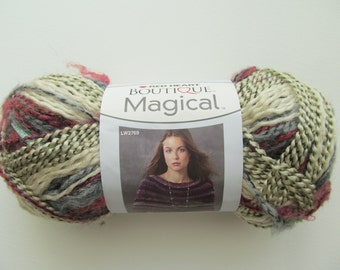 Red Heart Boutique Magical Crystal Ball Yarn Purple Grey Cream Metallic Thin and Thick  Wool Blend Bulky