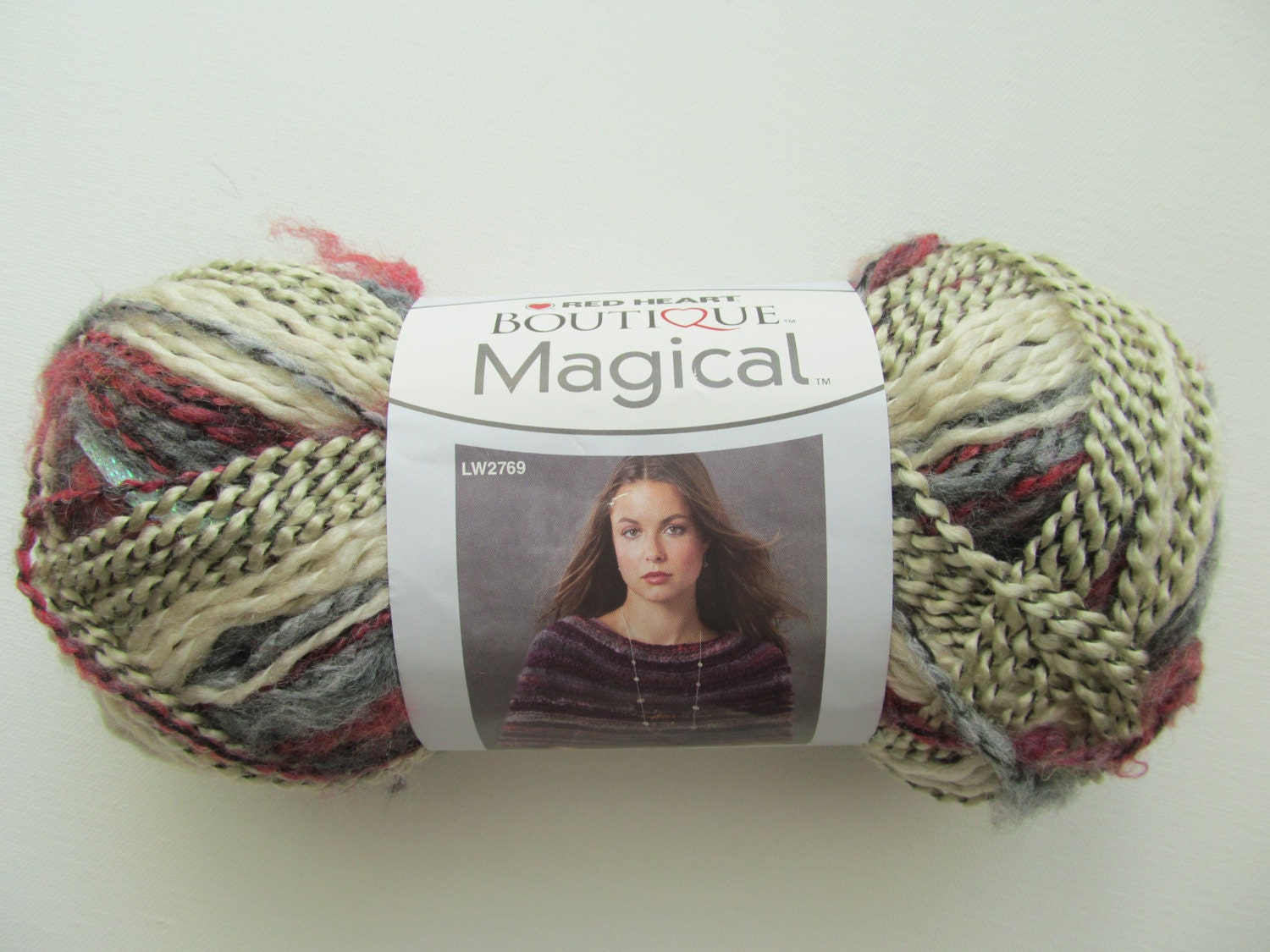 Red Heart Boutique Magical Crystal Ball Yarn Purple Grey Cream