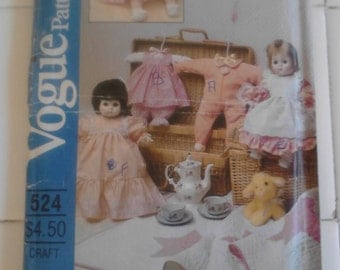 Vintage Vogue Baby Doll  Wardrobe Pattern  ECS