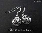 Silver Celtic Knot Irish Earrings
