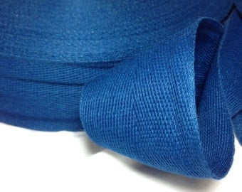 Cotton Twill Tape Binding 2 inches wide 10 yards long Navy Blue