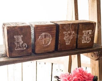 LOVE rustic bricks wedding decorations wedding signs hand made in Ireland Cork