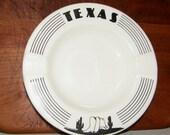 Vintage 1977 Texas Souvenir Ashtray Signed by Artist Joy Nacy