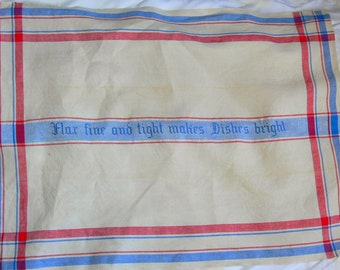 Vintage Advertising Premium Linen Tea Towel Mosse Linens NY