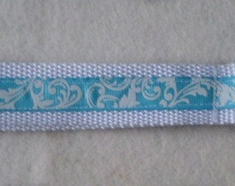 Blue Swirl Keychain Wristlet
