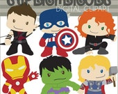 Superhero Clip art -Personal and Limited Commercial Use- Super Heroes Clipart