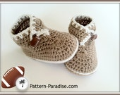 Baby Booties Crocheted Brown 6 - 12 months