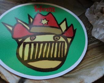 Ween Boognish Cowboy Oblong Series High Quality Vinyl Sticker