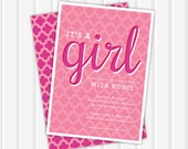 It's a Girl Baby Shower Invite | 5x7 | Double Sided