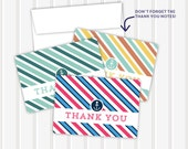 Nautical - Thank You Notes | 3.5x5 | folded