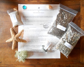 DIY Terrarium Kit  For Cactus and Succulents (Without Container or Succulent) In Small and Med Sizes