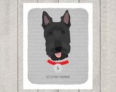 Scottish Terrier - Dog Nursery Art Print - Custom