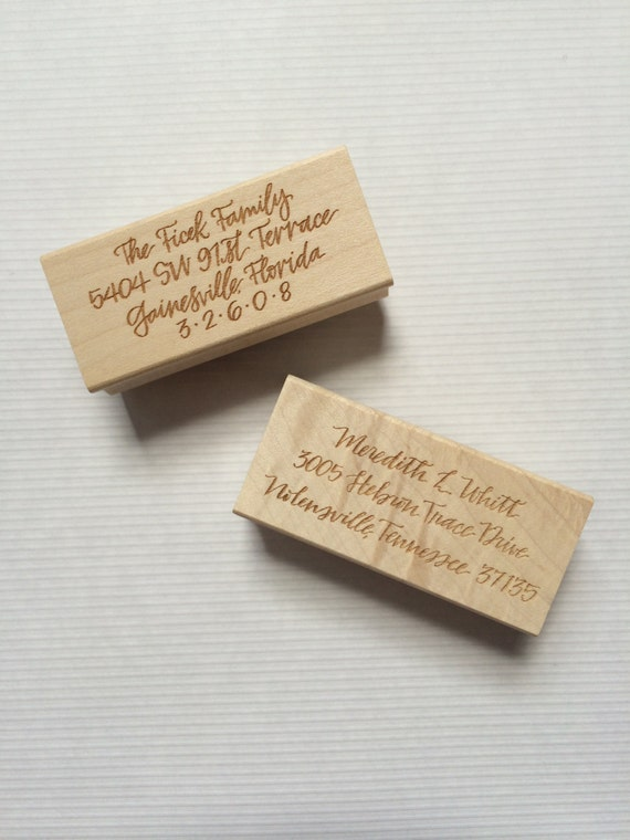 Custom Calligraphy Return Address Stamp By Hardinkcalligraphy